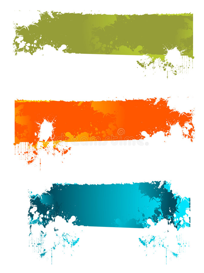 Download Splash banner stock vector. Image of buttons, granted - 8606225