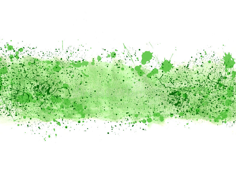 Green Paint Splatter Vector