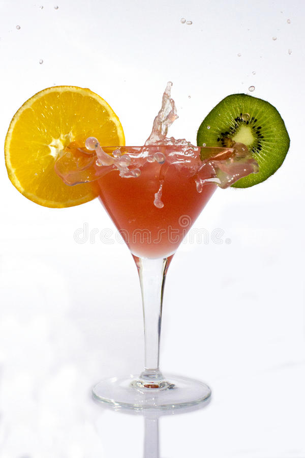 Splash cocktail royalty free stock images