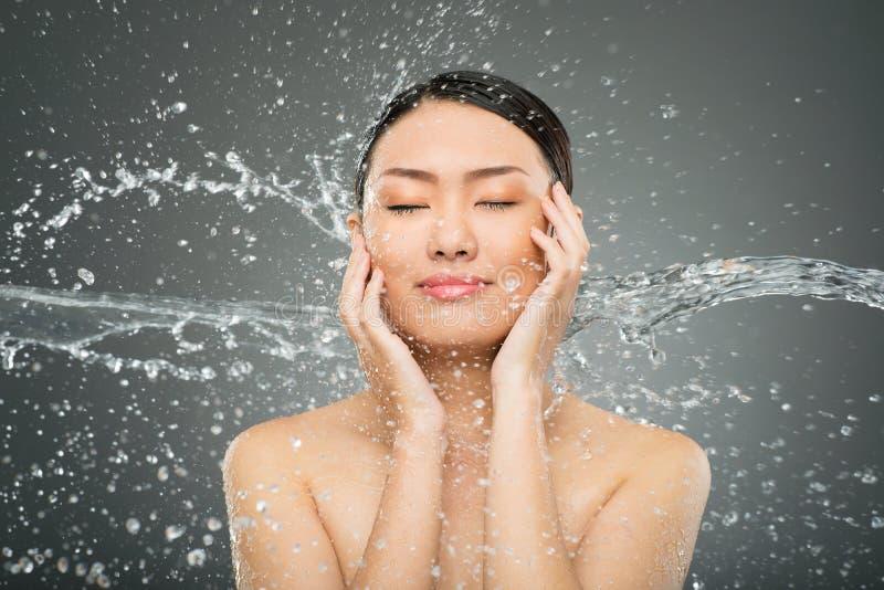 Download Splash on face stock image. Image of pour, closeup, cut - 34944835