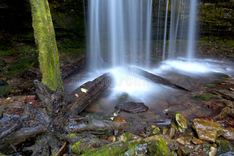 Splash from Fern Falls. royalty free stock images