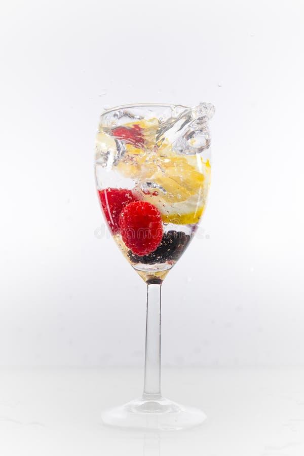 Splash fruit royalty free stock photos