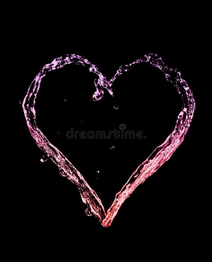 Splash Heart royalty free stock photos