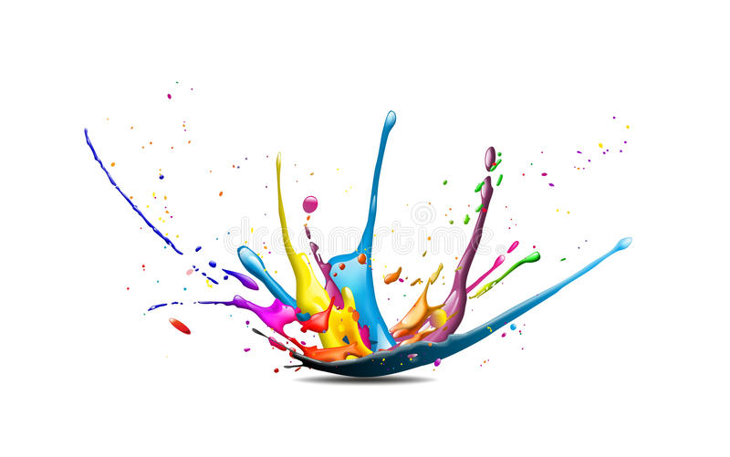 Splash. Illustration of a cmyk color splash stock illustration