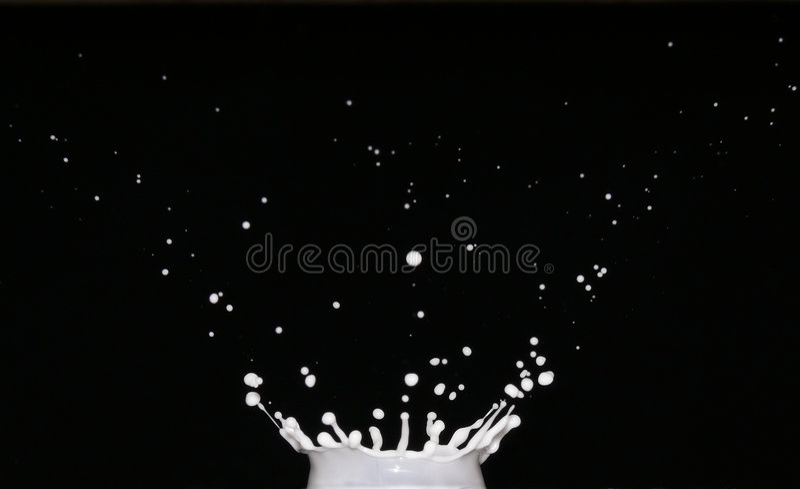 Splash Of Milk Stock Photos