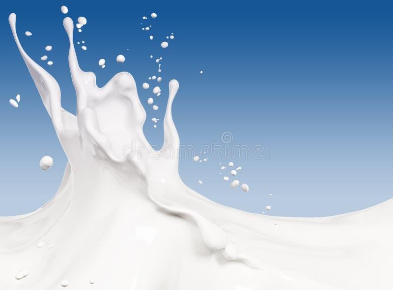 Splash milk abstract background 3d rendering. Splash milk abstract background, isolated 3d rendering royalty free illustration