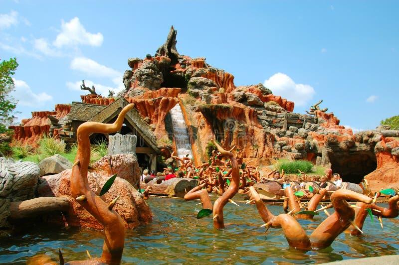 Splash Mountain editorial stock photo. Image of holiday ...