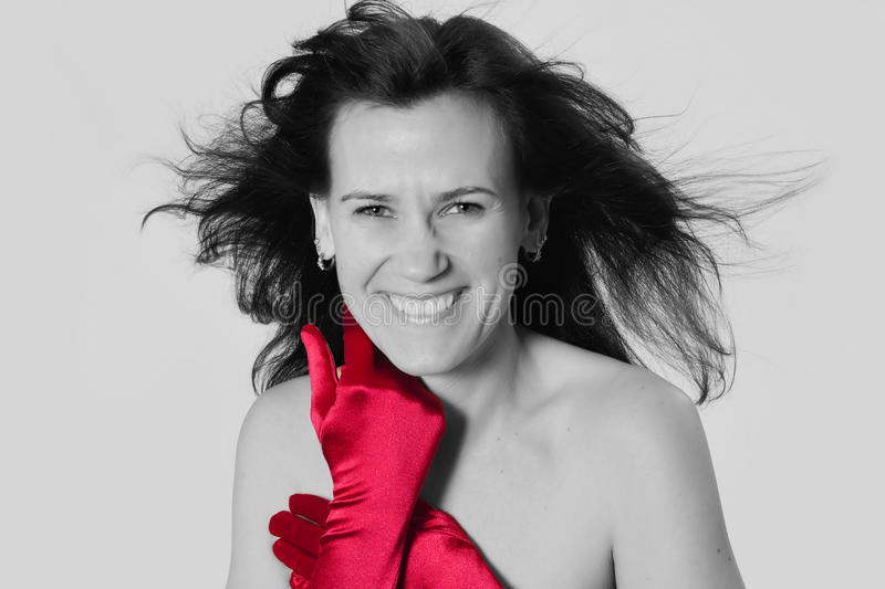 Download A splash of red stock photo. Image of face, shoulders - 28406570
