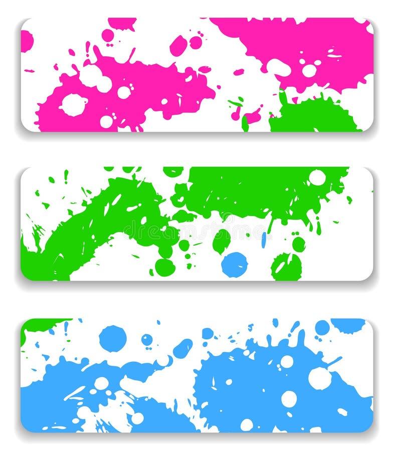 Splash set royalty free illustration
