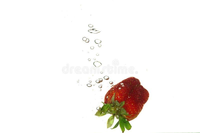 Splash strawberry stock photography