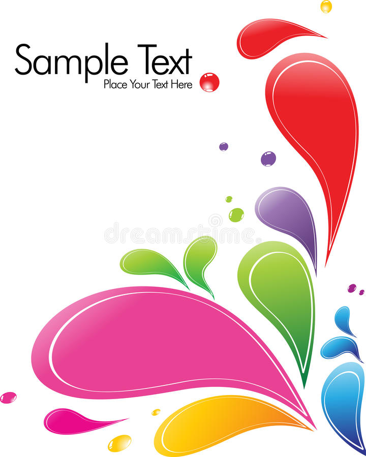 A splash of various colors royalty free illustration