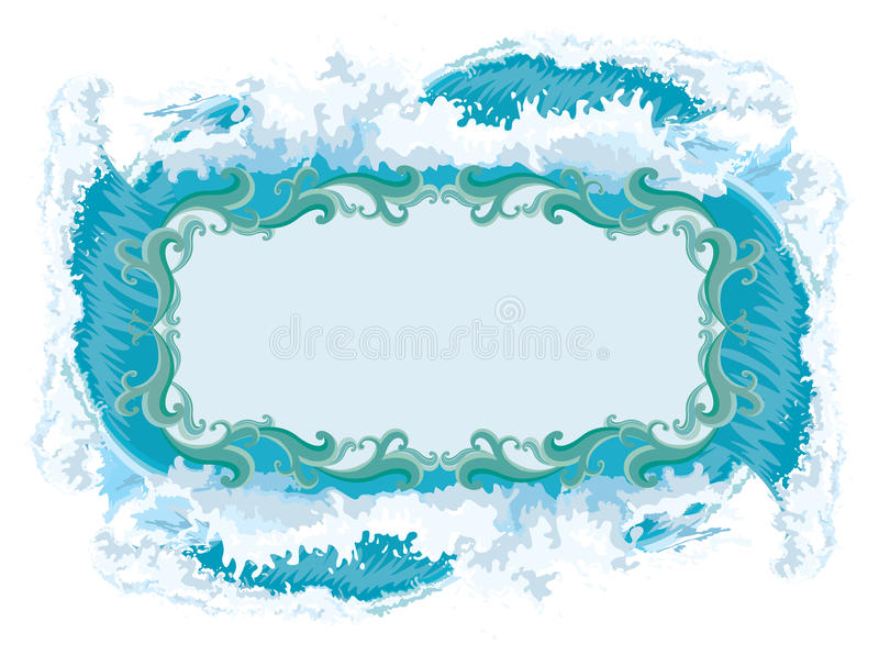 Download Splash - Water frame stock vector. Image of design, ornament - 14843113