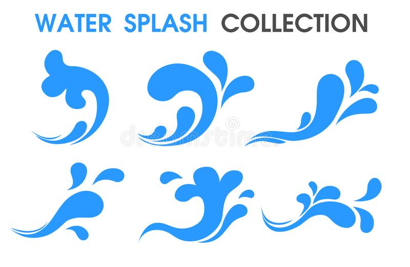 Splash water icon Flat and simple symbols vector illustration
