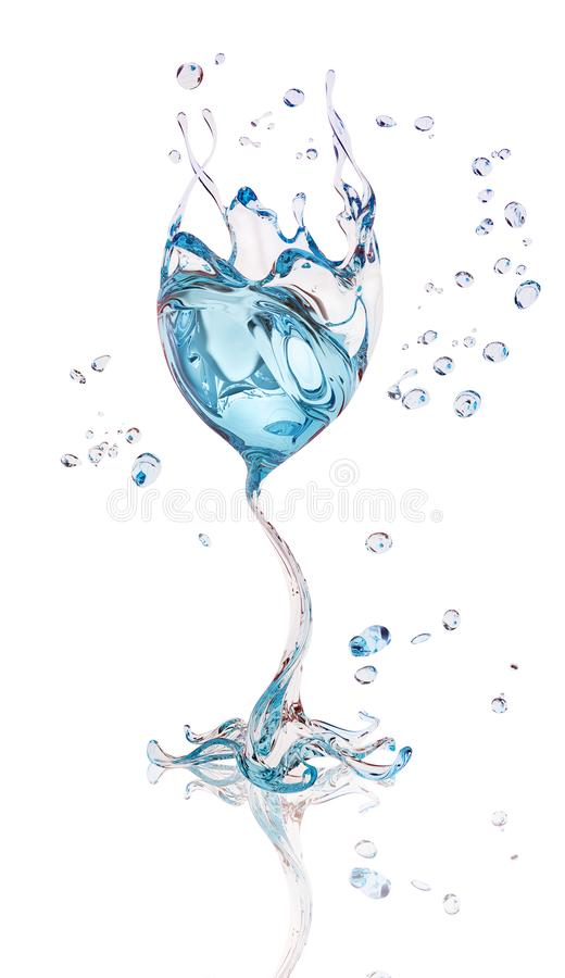Splash water isolated abstract 3d rendering. Splash water isolated abstract background 3d rendering royalty free illustration