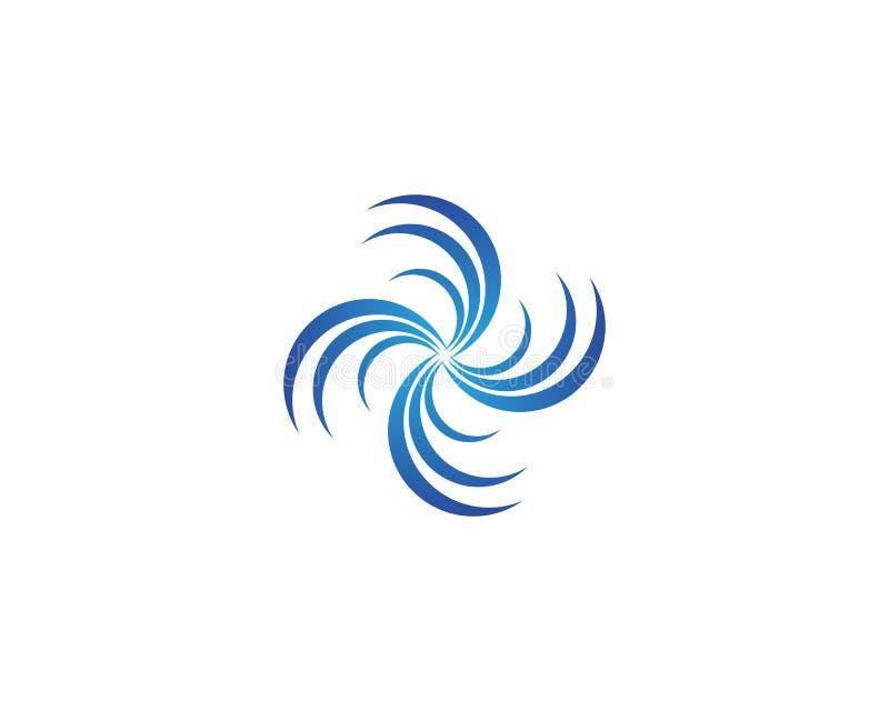 Splash water wave beach logo and symbol vector. Splash water wave beach logo symbol vector royalty free illustration