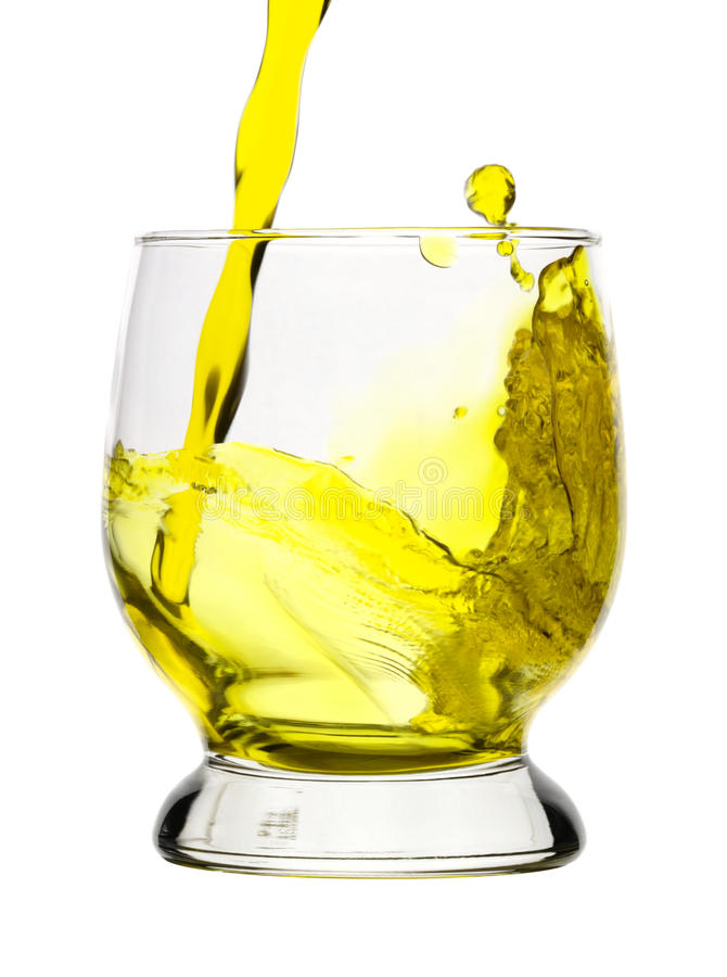 Download Splash, Yellow Drink Is Being Poured Into Glass Stock Image - Image: 11502489