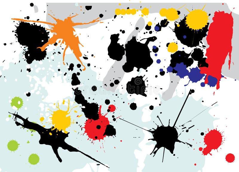 Download Splashes stock vector. Image of blot, floral, fine, nature - 1933832