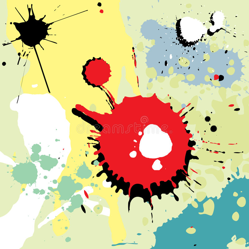 Download Splashes stock vector. Image of fluid, grunge, dissolve - 1935645