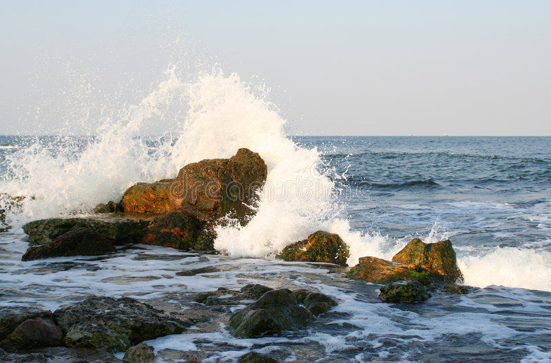 Download Splashes of the sea stock photo. Image of coast, rock, rugged - 990438