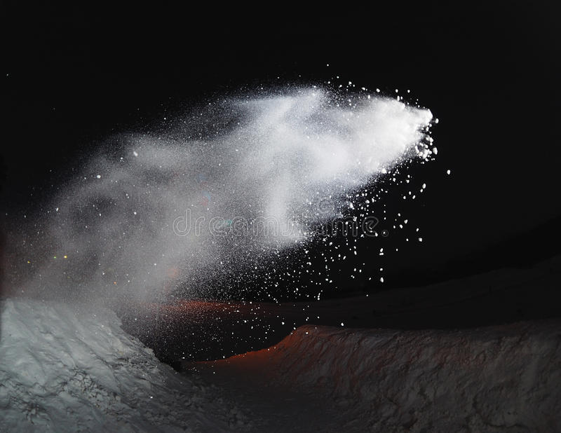 A splashes of snow