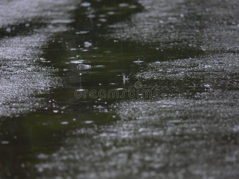 Splashes in a stream stock photo