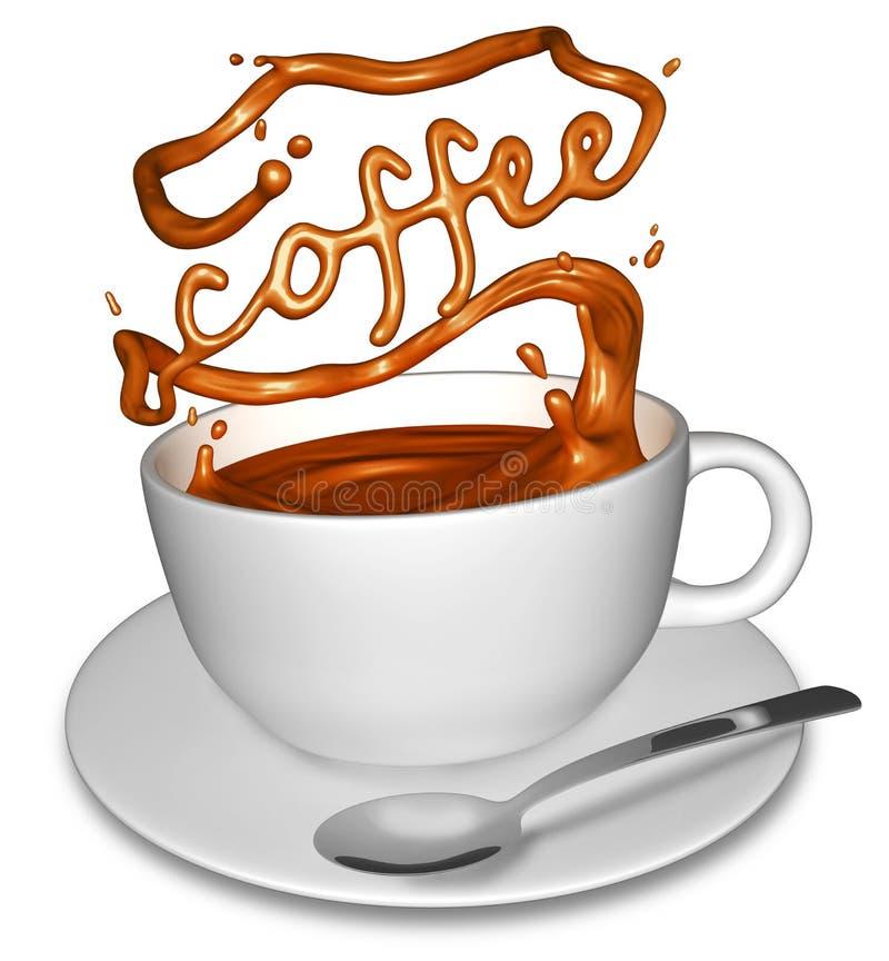 Splashing coffee vector illustration
