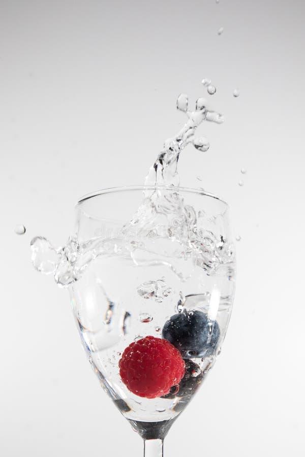 Splash fruit stock photo