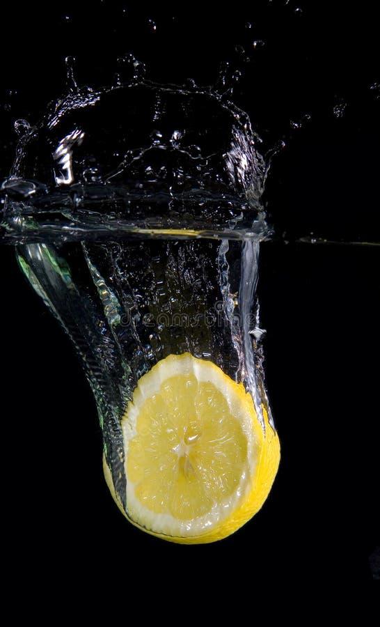 Splashing Lemon slice stock photo