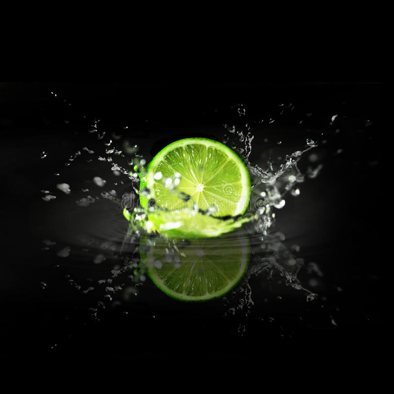 Download Splashing Lime stock image. Image of drops, cold, vegetarian - 18058645