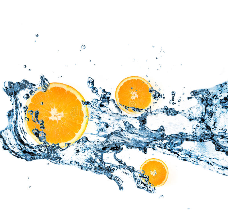 Download Splashing Water With Oranges Stock Photo - Image of ingredient, fruit: 9476448