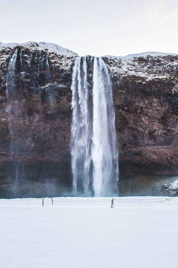 Splashing Waterfalls stock images