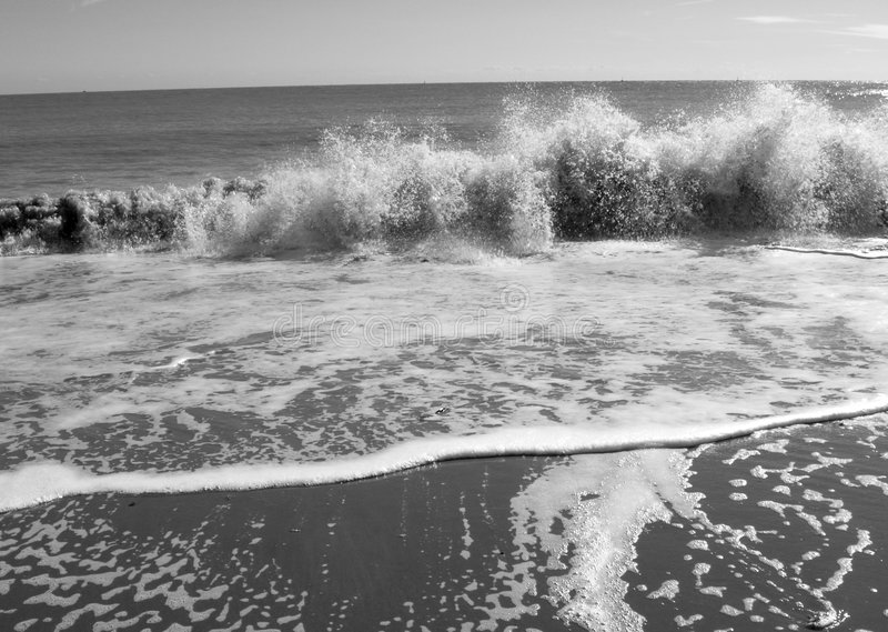 Splashing waves royalty free stock photo