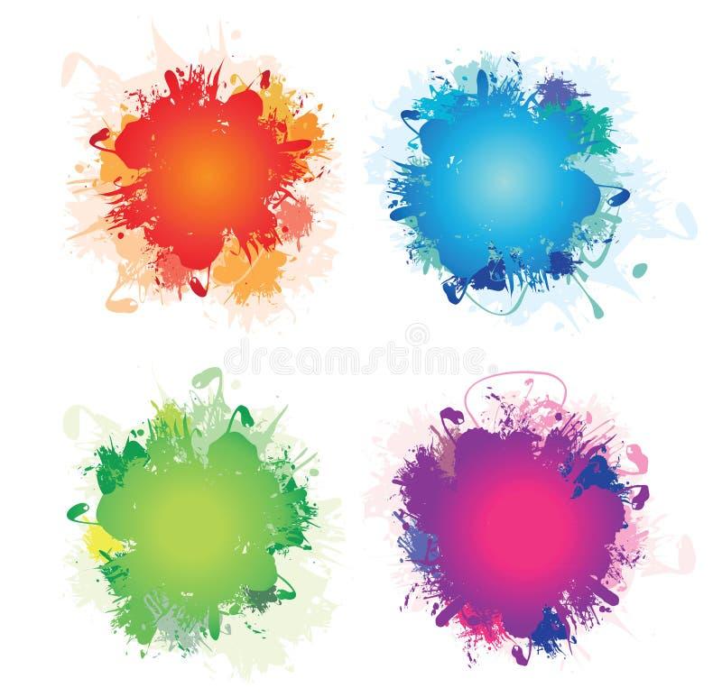Splashs vector illustration