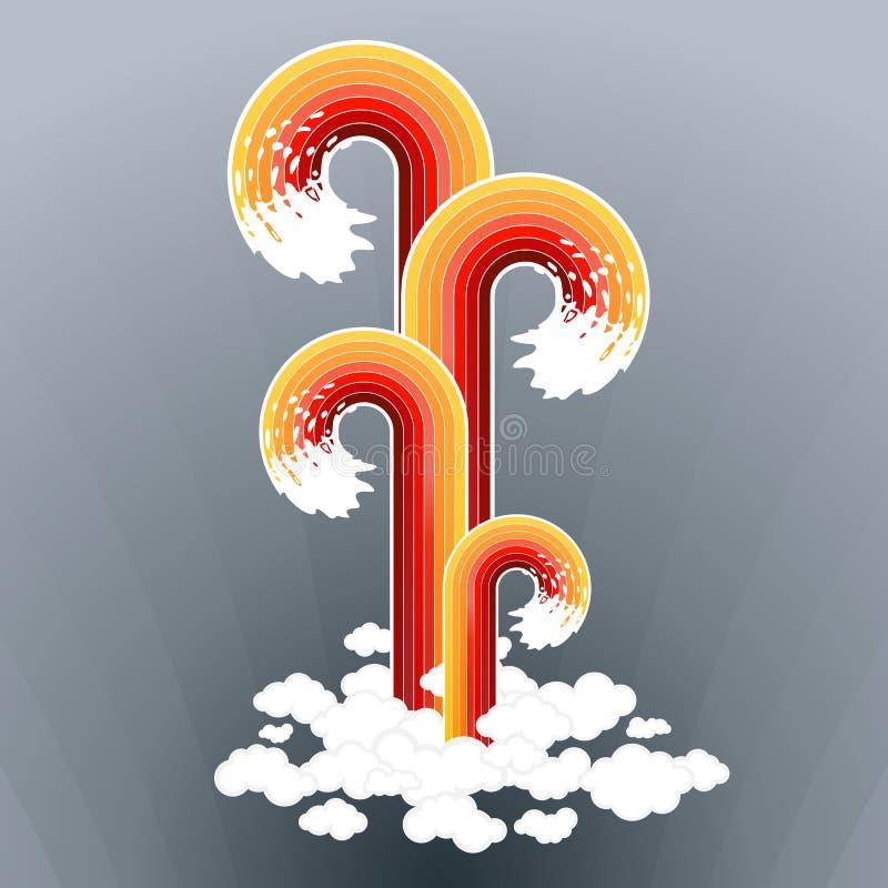 splashy предпосылки искусства выровнянное cloudscape иллюстрация штока