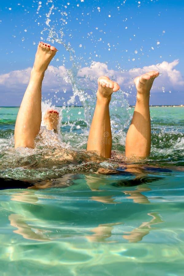 Splashy fotografia stock libera da diritti
