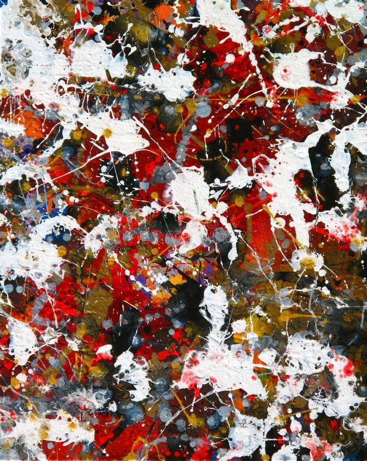 Splashy Farbzusammenfassung lizenzfreies stockbild