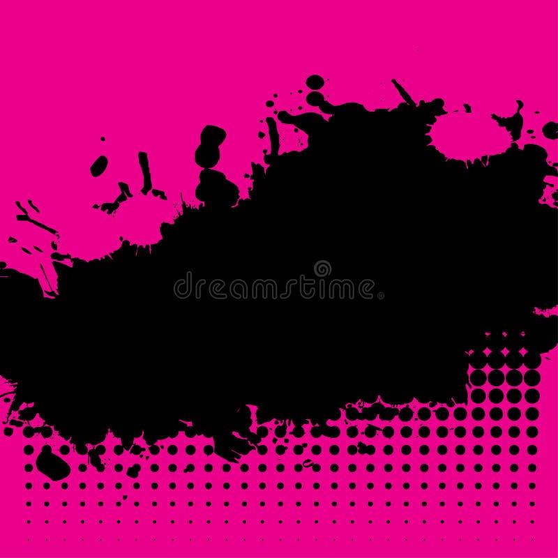 splat чернил halftone grunge бесплатная иллюстрация