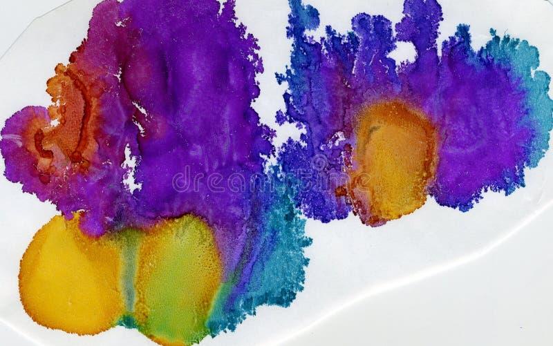 水彩splat,多色 库存图片
