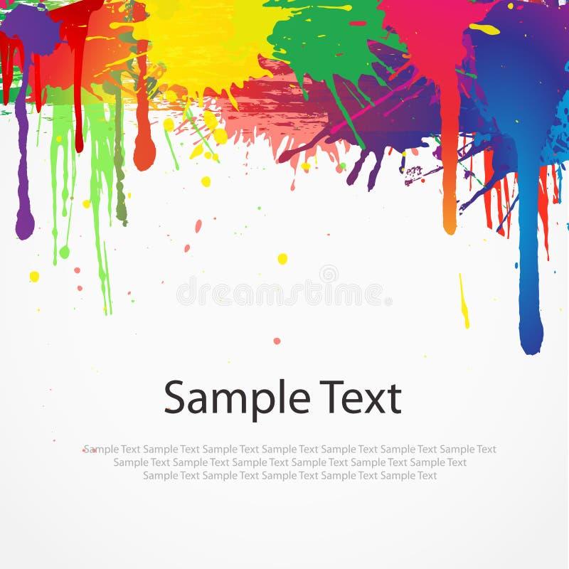 Splat colorido da pintura no branco ilustração stock