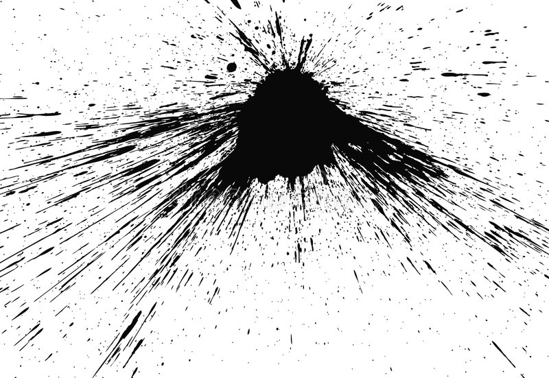 splat d'encre illustration de vecteur