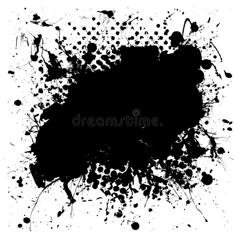 Splat d'encre chiné par grunge illustration stock