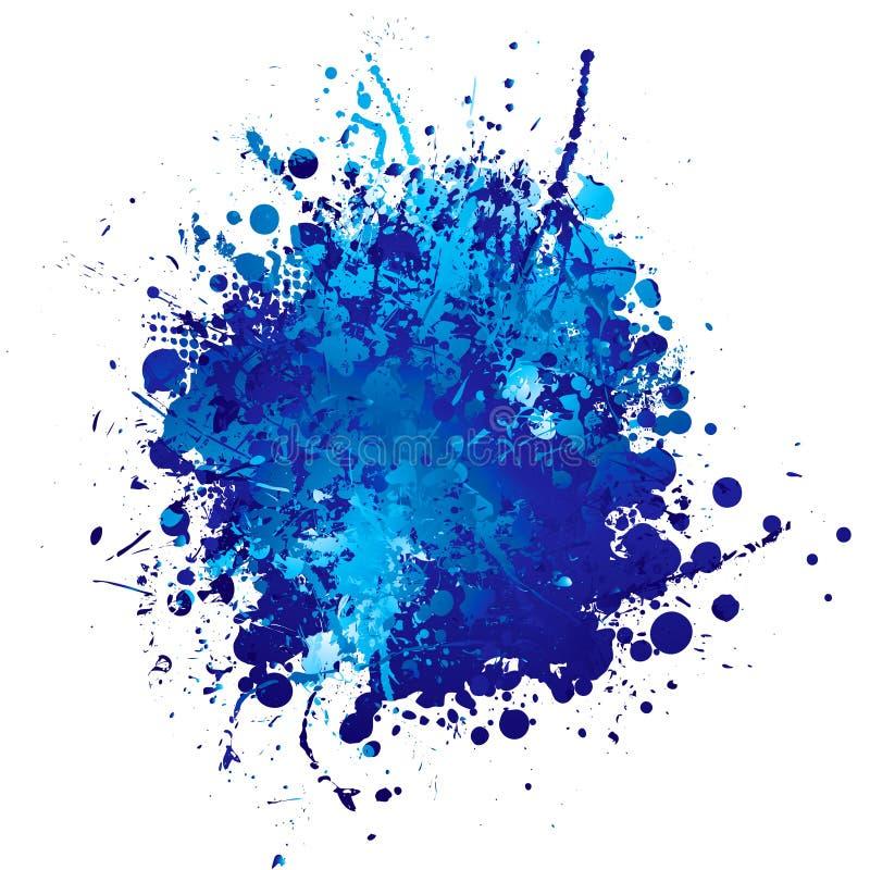 Splat da tinta azul ilustração royalty free