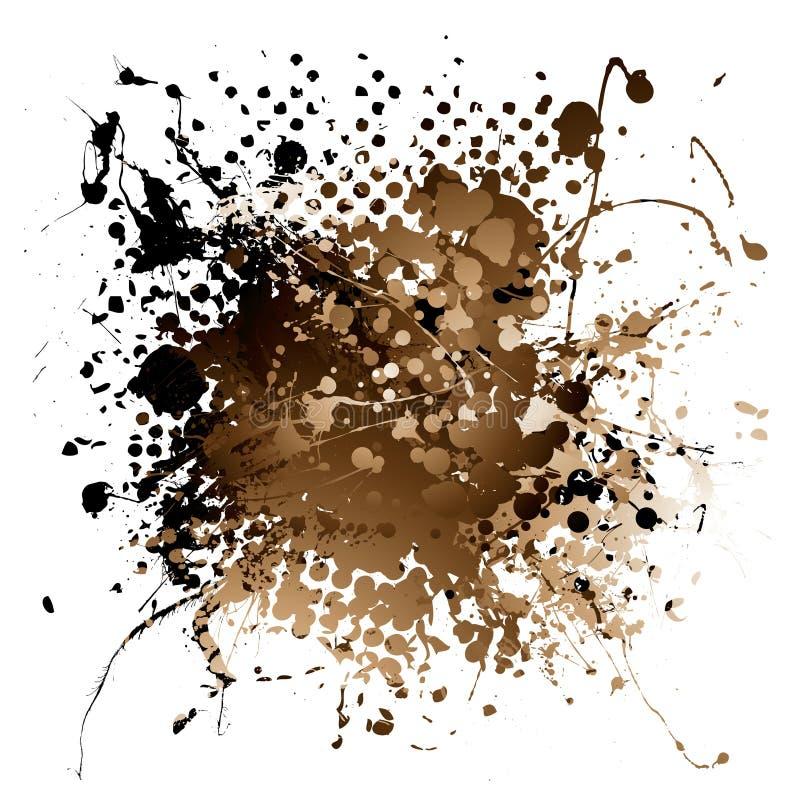 Splat da tinta de Brown ilustração stock