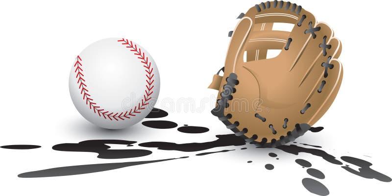 splat de gant de base-ball illustration libre de droits