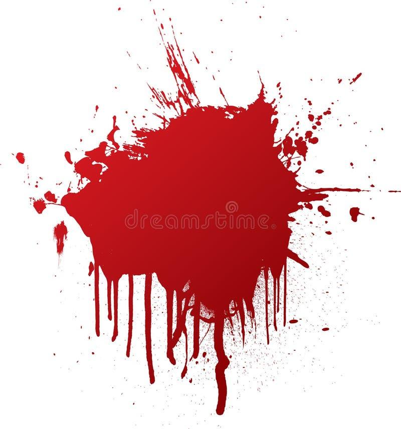 Splat de la sangre stock de ilustración