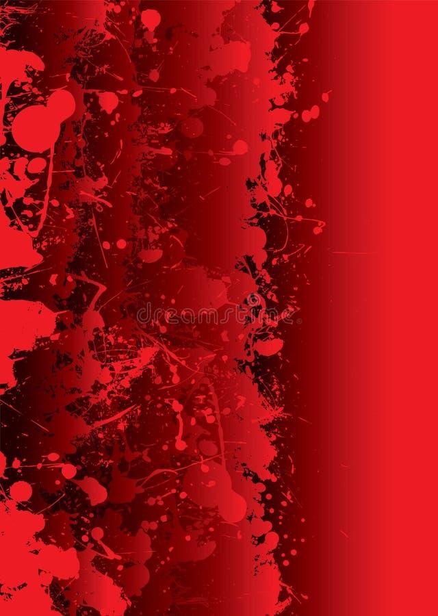 Splat de la sangre vivo stock de ilustración
