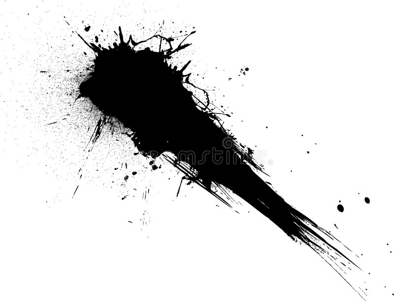 Splat de tir illustration stock