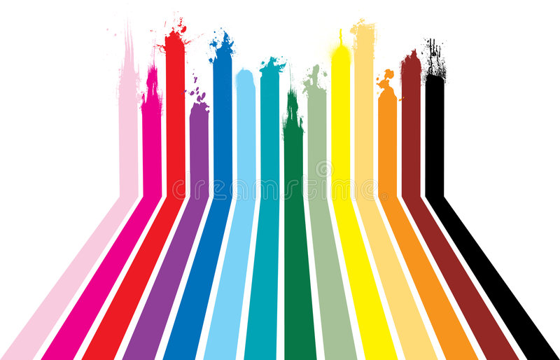 Splat del Rainbow royalty illustrazione gratis