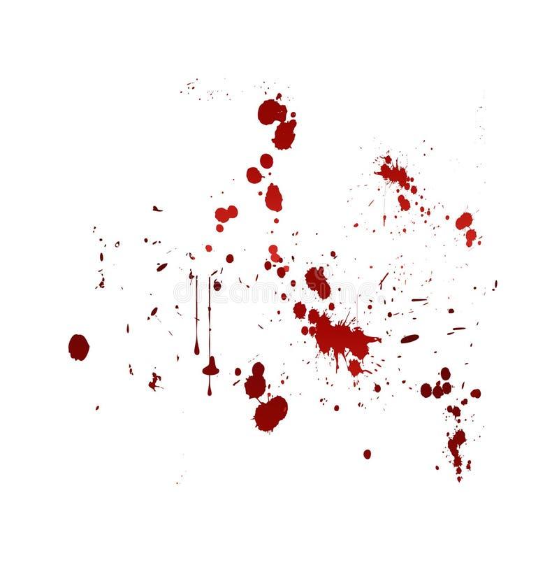 Splat del sangue illustrazione vettoriale