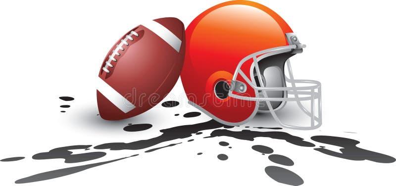 Splat do capacete de futebol ilustração do vetor